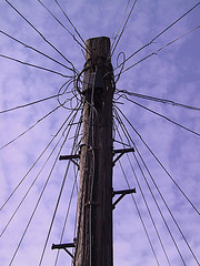 Telephone pole by Nicholas Smale