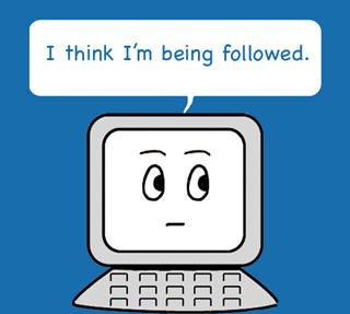 computer-being-followed