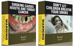 Plain packaging mouth cancer