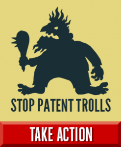 Logo used for the EFF campaign against trolls
